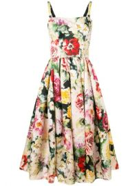 Dolce   Gabbana Floral Print Flared Dress - Farfetch at Farfetch