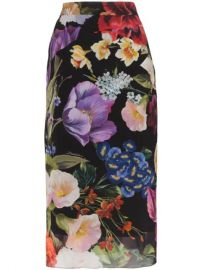 Dolce   Gabbana Floral Print stretch-silk Pencil Skirt - Farfetch at Farfetch