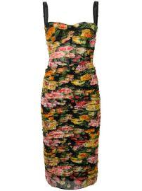 Dolce   Gabbana Floral Ruched Dress - Farfetch at Farfetch