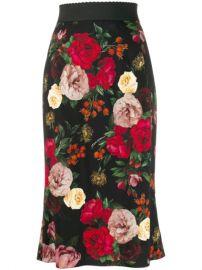 Dolce   Gabbana High Waisted Floral Skirt - Farfetch at Farfetch
