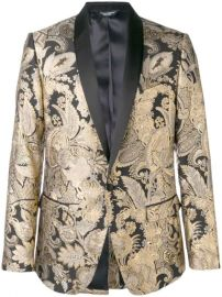 Dolce   Gabbana Jacquard Button Blazer - Farfetch at Farfetch