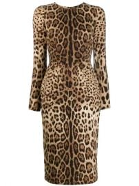 Dolce   Gabbana Leopard Print Bodycon Dress - Farfetch at Farfetch