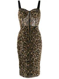 Dolce   Gabbana Leopard Print Fitted Dress - Farfetch at Farfetch