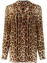 Dolce   Gabbana Leopard Print Pyjama Shirt - Farfetch at Farfetch