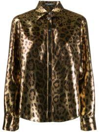 Dolce   Gabbana Metallic Leopard Print Shirt - Farfetch at Farfetch