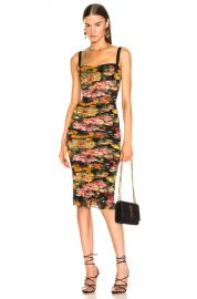 Dolce   Gabbana Multi Floral Print Tulle Tubino Dress in Multi   FWRD at Forward