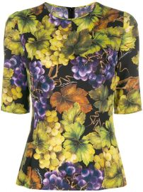 Dolce   Gabbana Printed Fitted Top - Farfetch at Farfetch