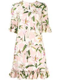 Dolce   Gabbana Ruffle Lily Print Dress - Farfetch at Farfetch