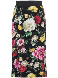 Dolce   Gabbana Silk Floral Pencil Skirt - Farfetch at Farfetch