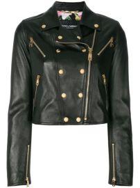 Dolce   Gabbana Studded Leather Biker Jacket - Farfetch at Farfetch