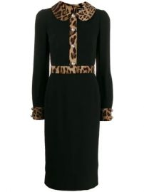 Dolce   Gabbana leopard-print Trim Dress - Farfetch at Farfetch