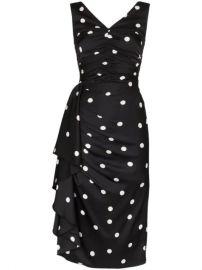 Dolce   Gabbana polka-dot Ruffled Ruched Midi Dress - Farfetch at Farfetch