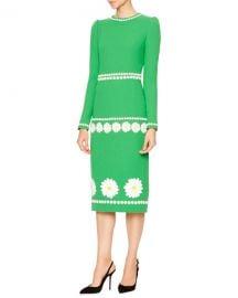 Dolce & Gabbana DLong-Sleeve Daisy Wool-Crepe Dress at Bergdorf Goodman
