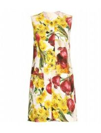 Dolce & Gabbana Floral Onion Print Jacquard Dress at The Outnet