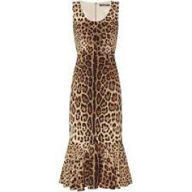 Dolce & Gabbana Flounce Hem Leopard Print Dress at Farfetch