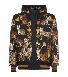 Dolce  Gabbana Cat Print Hoodie at Harrods