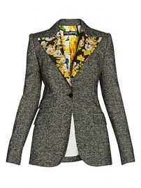 Dolce  amp  Gabbana - Floral Jacquard Lapel Detail Jacket at Saks Fifth Avenue
