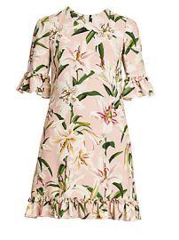 Dolce  amp  Gabbana - Floral Print Ruffle Trim Dress at Saks Fifth Avenue