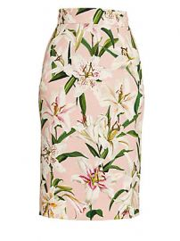 Dolce  amp  Gabbana - Lily Printed Pencil Skirt at Saks Fifth Avenue