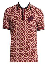 Dolce  amp  Gabbana - Logo Cotton Polo Shirt at Saks Fifth Avenue