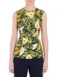 Dolce  amp  Gabbana - Pear Print Cady Sleeveless Blouse at Saks Fifth Avenue