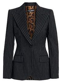 Dolce  amp  Gabbana - Pinstripe Wool Jacket at Saks Fifth Avenue