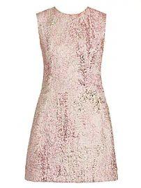 Dolce  amp  Gabbana - Sleeveless Metallic Jacquard A-Line Dress at Saks Fifth Avenue