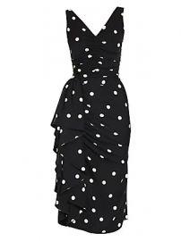 Dolce  amp  Gabbana - Sleeveless Polka Dot Ruffle Dress at Saks Fifth Avenue