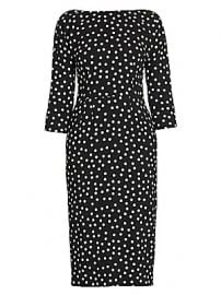 Dolce  amp  Gabbana - Three-Quarter Sleeve Polka Dot Dress at Saks Fifth Avenue