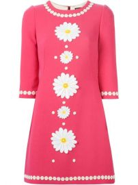 Dolce  amp  Gabbana Daisy Embroidered Dress - at Farfetch