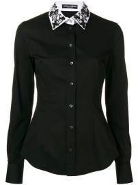 Dolce  amp  Gabbana Embellished Collar Shirt - Farfetch at Farfetch