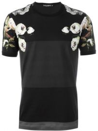Dolce  amp  Gabbana Floral Print Panelled T-shirt - Umberto Giugliano at Farfetch