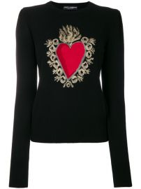 Dolce  amp  Gabbana Heart Puff Sleeve Sweater at Farfetch