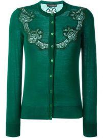 Dolce  amp  Gabbana Lace Detail Cardian at Farfetch