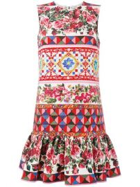 Dolce  amp  Gabbana Mambo Print Peplum Dress  1 595 - Buy SS17 Online - Fast Delivery  Price at Farfetch