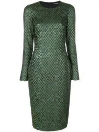 Dolce  amp  Gabbana Metallic Jacquard Dress - Farfetch at Farfetch
