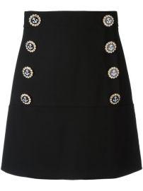 Dolce  amp  Gabbana Nautical Button Skirt at Farfetch