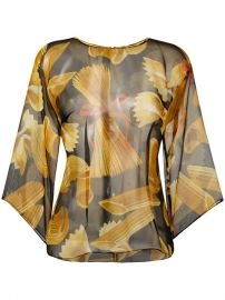 Dolce  amp  Gabbana Pasta Print Blouse  995 - Shop SS17 Online - Fast Delivery  Price at Farfetch