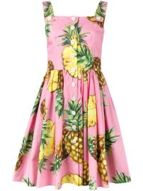 Dolce  amp  Gabbana Pineapple Print Dress at Farfetch
