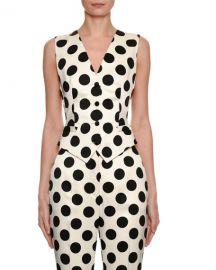 Dolce  amp  Gabbana Polka-Dot Duchess Satin Vest at Neiman Marcus