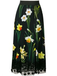 Dolce  amp  Gabbana Printed Cady Skirt at Farfetch