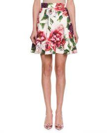 Dolce  amp  Gabbana Rose  amp  Peony Brocade Skirt at Neiman Marcus