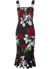 Dolce  amp  Gabbana Rose Print Dress at Farfetch