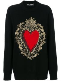Dolce  amp  Gabbana Sacred Heart Embroidered Sweater at Farfetch