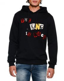 Dolce  amp  Gabbana The King is Back Cotton Hoodie at Neiman Marcus