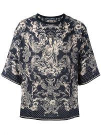 Dolce  amp  Gabbana Virgin Mary Print T-shirt at Farfetch