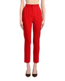 Dolce  amp  Gabbana Zip Front Wool Pants at Neiman Marcus