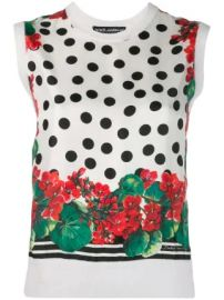 Dolce  amp  Gabbana printed knitted top printed knitted top at Farfetch