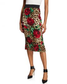 Dolce  amp  GabbanaRose   Leopard Tube Skirt at Neiman Marcus