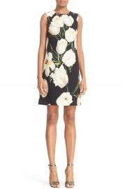 Dolce Gabbana Tulip Print Wool Shift Dress at Nordstrom